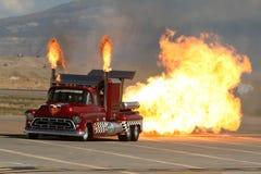 De super Vrachtwagen van de Straalmotor van de Schokgolf tweeling. Royalty-vrije Stock Afbeeldingen