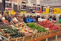 De supermarkt van de kruidenierswinkelopslag Royalty-vrije Stock Afbeeldingen