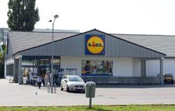 De supermarkt van Lidl Stock Foto