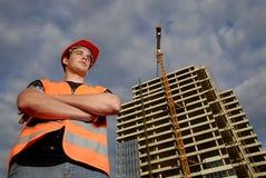 De supervisor van de bouw Royalty-vrije Stock Afbeeldingen