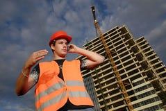 De supervisor van de bouw Stock Afbeeldingen