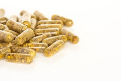 De Supplementen van het bijenstuifmeel Royalty-vrije Stock Foto's