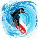 De Surfer Royalty-vrije Stock Foto's
