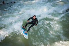 De Surfer van München Stock Foto