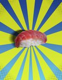 De sushi KNALLEN! Stock Foto's
