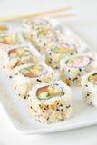 De sushi rolt belangentempura royalty-vrije stock fotografie