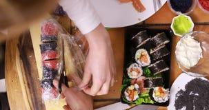De Sushi van Californië Maki stock footage