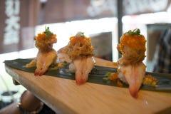 De sushi van close-upgarnalen Royalty-vrije Stock Foto's