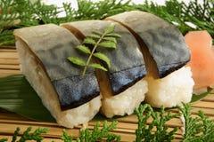 De sushi van de makreel Stock Fotografie