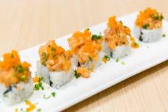 De sushi van de zalm Stock Foto