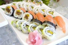 De Sushi van het buffet Stock Fotografie