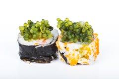 De sushi van het druivenzeewier Royalty-vrije Stock Fotografie