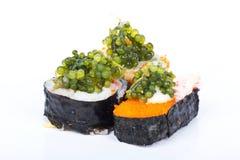 De sushi van het druivenzeewier Stock Fotografie