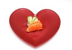 De sushi van het hart Stock Afbeeldingen