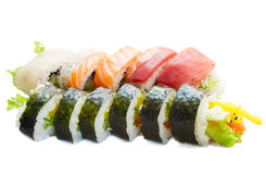 De sushi van Japaneese Stock Afbeelding