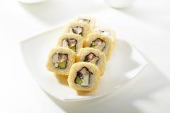 De Sushi van Maki van Tempura Stock Foto