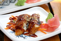 De sushi van Unagi Royalty-vrije Stock Afbeeldingen