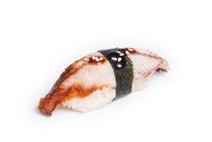 De sushi van Unaginigiri van gerookte paling worden gemaakt die Stock Foto