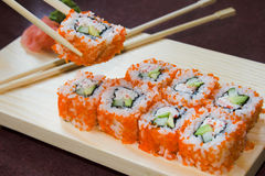 De sushibroodjes van Californië Stock Fotografie