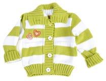 De sweater van de baby gestreept met groene strook Royalty-vrije Stock Foto
