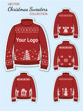 De Sweaters van Jersey van het Kerstmisontwerp Stock Afbeeldingen
