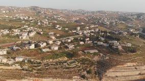 De sydliga förorterna av Betlehem, palestinska myndigheten Sikt fr?n surret arkivfilmer