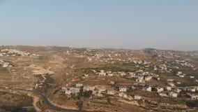 De sydliga förorterna av Betlehem, palestinska myndigheten Sikt fr?n surret stock video