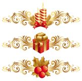 De symbolen & het ornament van Kerstmis Royalty-vrije Stock Foto