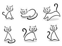 De symbolen en de emblemen van katten Stock Foto's