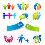 De Symbolen en de Stickers van mensen Stock Fotografie