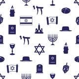 De symbolen naadloos blauw patroon eps10 van de judaïsmegodsdienst stock illustratie