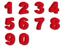 De symbolen van aantallen Royalty-vrije Stock Afbeeldingen