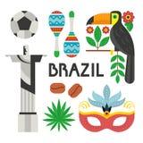 De Symbolen van Brazilië vector illustratie