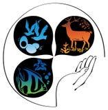 De symbolen van de aard Stock Illustratie