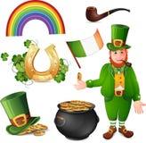 De symbolen van de Dag van heilige Patrick stock illustratie