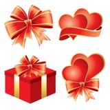 De symbolen van de Dag van de valentijnskaart Stock Afbeeldingen