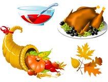 De Symbolen van de dankzegging Stock Foto
