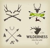 De symbolen van de de jachtclub geplaatst vector Stock Foto's