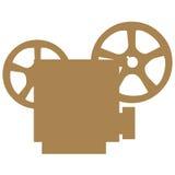 De symbolen van de filmprojector Stock Foto's