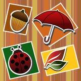 De symbolen van de herfst Royalty-vrije Stock Afbeeldingen