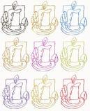 De symbolen van de kaars Stock Afbeeldingen