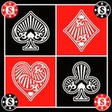 De symbolen van de kaart Royalty-vrije Stock Foto's