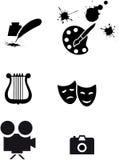 De symbolen van de kunst Stock Afbeeldingen