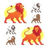 De Symbolen van de leeuw Stock Foto's