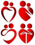 De symbolen van de liefde Stock Afbeeldingen