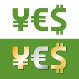 De symbolen van de munt Stock Fotografie