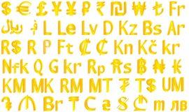 De symbolen van de munt Royalty-vrije Stock Afbeeldingen