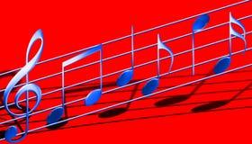 De symbolen van de muziek Stock Foto's