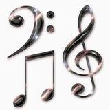 De symbolen van de muziek Royalty-vrije Stock Afbeelding