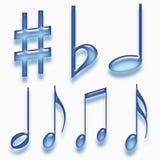 De symbolen van de muziek Stock Fotografie